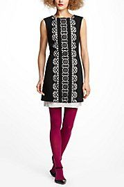 Carlotta Ponte Dress.  And love the colorful tights.  Anthropologie
