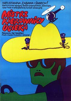 Smokey and the Bandit (1977) - Polish poster by Maciej Zbikowski.