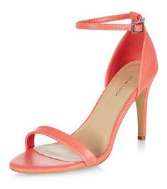 - Open toe design- Buckle ankle strap detail- Stiletto heel- Heel height: 3.5