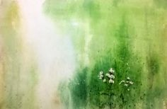 """Wild Flowers"" a water colour painting by Bhanupratap Khare"