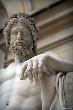 amazing detail - the hand looks real : Aristaeus, god of gardens François-Joseph Bosio Musée du Louvre, Paris Marble, 1817