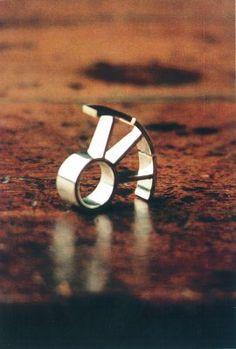 Salt Ring - HYKE - Heike Wanner Jewelry Rings, Silver Jewelry, Silver Rings, Contemporary Jewellery Designers, Salt, Wedding Rings, Bling, Engagement Rings, Jewels
