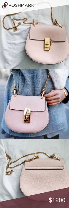 Chloe bag Drew small pink Selling my beautiful Chloe bag drew pink small it's used very little and no stains very good condition if any questions please do ask 100% authentic)   Retail price is 1850$ Chloe Bags Shoulder Bags