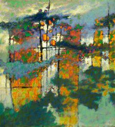 Rick Stevens.The Spaces Between Us, oil on canvas