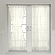 Abri Crushed Sheer Door Curtain 72-inch long panel (Ivory) Treasures2 http://www.amazon.com/dp/B00JTLZI8A/ref=cm_sw_r_pi_dp_bqj-vb0K530HF