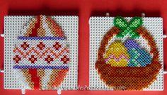 Easter egg and basket hama mini beads by Rachel - Mes Petits Bonheurs Motifs Perler, Perler Patterns, Perler Bead Art, Perler Beads, Bead Crafts, Arts And Crafts, Easter Egg Pattern, Art Perle, Hama Beads Design