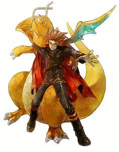 Champion Lance and Dragonite--HGSS Pokemon