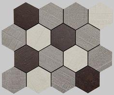 OUTDOOR: Outdoor policromático natural mosaico hexagonal APAVISA