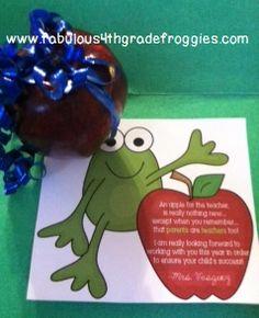 DIY Parent welcome apples as seen on Kindergarten Klub  www.kindergartenklub.com
