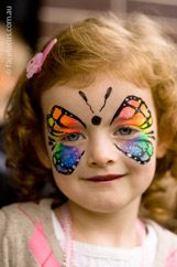 butterfly Face painting!