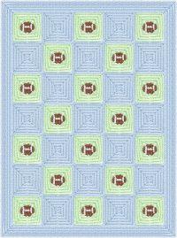 oKay Crochet by Monarae, Baby football afghan Baby Afghan Crochet, Baby Afghans, Crochet Squares, Crochet Blanket Patterns, Crochet Blankets, Football Quilt, Crochet Football, Football Bedroom, Pixel Crochet