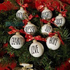Ornaments, Rae Dunn Inspired, Christmas Tree Ornaments, Rustic Christmas Ornaments, Rustic Christmas, Ornaments Christmas Set,Tree Ornaments