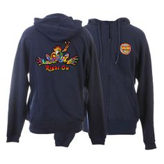 Peace Frogs Button Printed Adult Full Zip Hooded Sweatshirt--LOVE THIS!!