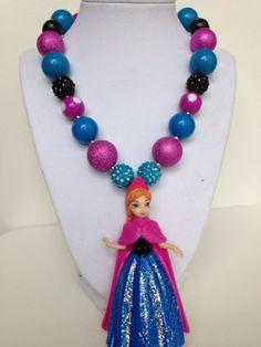 Disney Frozen Necklace..Anna necklace..Chunky by GirlzNGlitter, $22.00