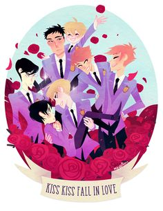 "8.5x11"" Ouran High School Host Club print on glossy, heavy letter paper."