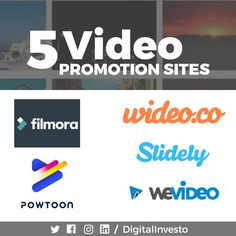 Looking for some video promoting sites??? There are a lot of videos promoting sites these days but choosing the right ones is the tough task. Don't worry, we made that easy for you, by shortlisting out all the best video promotion sites. Here are the best sites for promoting your quality video content. Join digital investo and learn all the interesting tips and tricks about video marketing sites. For more interesting Video promotion sites updates follow our Social Media Channels. Social Media Channels, Best Sites, Don't Worry, More Fun, Social Media Marketing, Promotion, Join, Student, Content