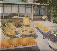 Patio design from Better Homes and Gardens, July 1958