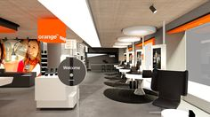 Orange Store, Zurich. A project by Ippolito Fleitz Group – Identity Architects.