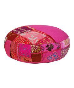 Look at this #zulilyfind! Pink Bohemian Meditation Cushion by Modelli Creations #zulilyfinds
