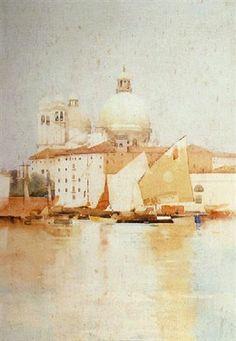 Arthur Melville (1855 — 1904, UK. Scotland) The yellow sail. watercolor. 85 x 60 cm. (33.5 x 23.6 in.)