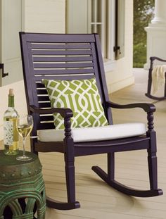 Settle into the generous proportions and comfortable contours of the Nantucket outdoor rocking chair