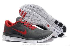 Grey Sport Red Mens Mens Nike Free Run 3 510642-006 For Wholesal