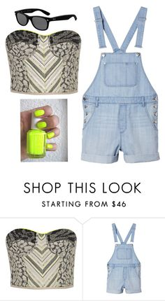 """How To Wear Overalls .. If I was your stylist"" by jazlynnl ❤ liked on Polyvore featuring Matthew Williamson, Monki and Ray-Ban"