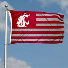 WSU Cougar Nation Flag. Need one for the home (: