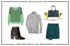 6 Style Ruts So Worth Getting Out Of #refinery29. Tneck and skirt love. Sweater? Would have to try on.