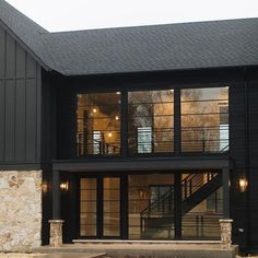 efining Built & designed by is James Hardie in Sherwin Williams Iron Ore. See more beautiful Exterior House Siding, Stone Exterior Houses, Black House Exterior, Exterior Cladding, Exterior House Colors, Loft Interior, Interior Architecture, Interior Ideas, Lofts