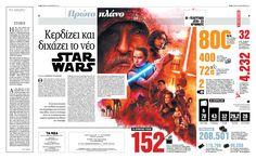 Spread, Star wars, newspaper TA NEA