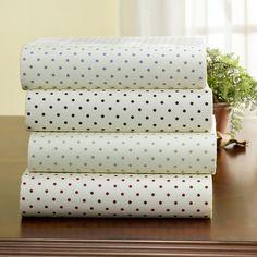 sage green polka dot sheets $28 for twin set