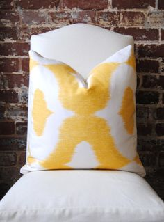 yellow ikat cover