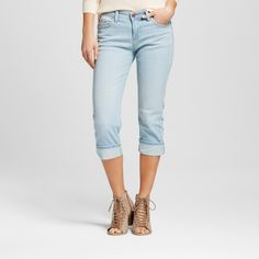 Women's Aberdeen Straight Roll Cuff Capri Jeans