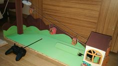 RC cable car toys, home made