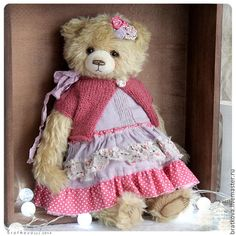 Teddy bear handmade. Fair Masters - handmade Nicole) 35 cm. Handmade.