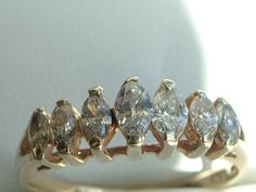 Estate Vintage Diamond Ring 14 K  Gold with by My3LadiesJewelry, $295.00