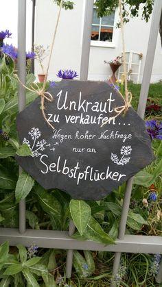 Unkraut zu verkaufen an Selbstpflücker #Garten