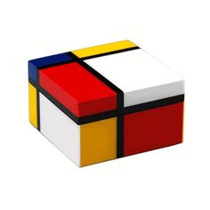 1930 Composition with red Yellow and Blue Small Box Pacific Connections Mondrian