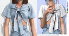 Mali Tied Top by Volatile Sims for The Sims 4 Sims 4 Cas, Sims Cc, Vêtement Harris Tweed, Sims 4 Black Hair, Sims 4 Dresses, Sims 4 Gameplay, Sims4 Clothes, Sims 4 Cc Packs, Sims Four