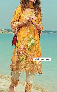 Mustard Lawn Suit | Buy Rang Rasiya Pakistani Dresses and Clothing online in USA, UK