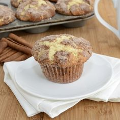 Snickerdoodle Muffins    The cinnamon and sugar give these muffins a nice and crunchy top while the muffin middles stay moist and tender. These muffins are best served warm straight out of the oven or warmed up in the microwave for a few seconds.