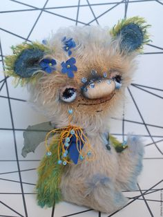 Купить Мускари - бежевый, авторский мишка тедди, мишка ручной работы, мишка-тедди