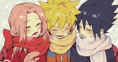 Team 7, cute, Naruto, Sasuke, Sakura, young, childhood; Naruto