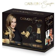 Take all the effort out of your hair drying and home-styling with the amazing Carmen by Samantha Hands-Free Hairdryer. When it comes to beautiful, healthy looking hair, nothing could be easier to use than the Carmen by Samantha Hands-Free Hairdryer. The dryer comes with a base, so you can use both hands to style your hair as it dries.