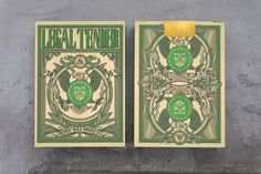 Kickstarter: Legal Tender Playing Cards by Jackson Robinson