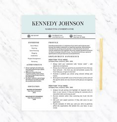46 Best Resume Templates that Standout! images | Job resume ...