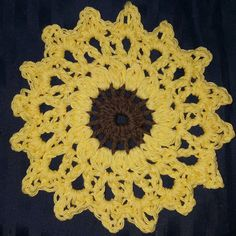 My first Sunflower  coaster.. What do you think? by dawnyallen18