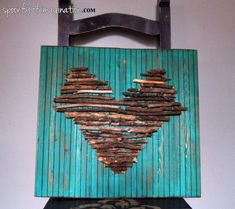 DIY Stick Heart Wall Art {step by step instructions on how to make this piece}