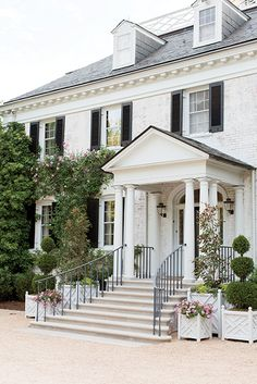 The main house exterior of Chip and Sally Akridge's Maryland estate. Photo by Patricia Lyons.   Garden & Gun